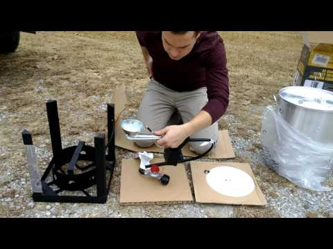 How to assemble a 30 quart Browning Turkey fryer (from Lowe's)