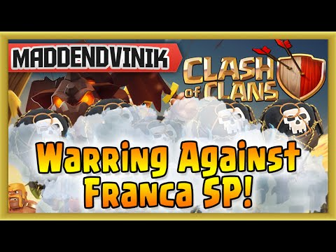 Clash of Clans - Warring Against Franca SP! (Gameplay Commentary)