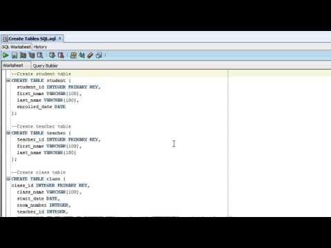 How To Create and Populate Tables in SQL Developer
