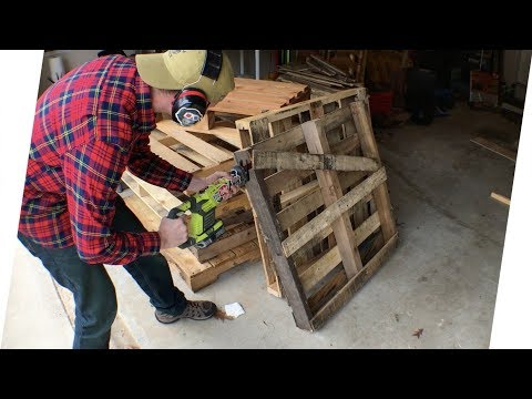 How To Quickly Disassemble Wood Pallets