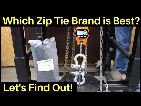 Which Zip Tie Brand is the Best? Let's find out!
