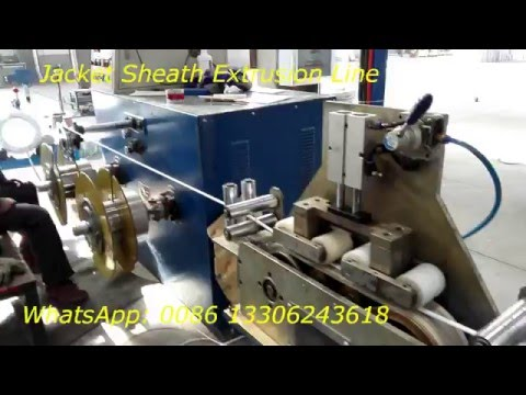 cable wire jacket sheath extrusion line