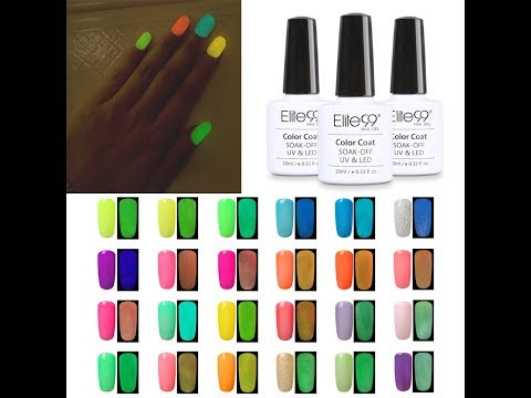 Elite99 Glow in the Dark Gel Nail Polish  Luminous Fluorescent Nail Lacquer