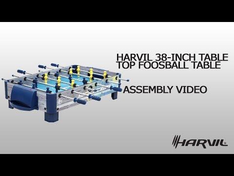 Assembly Video | Harvil 38-Inch Tabletop Foosball Table | 85951 | Dazadi.com