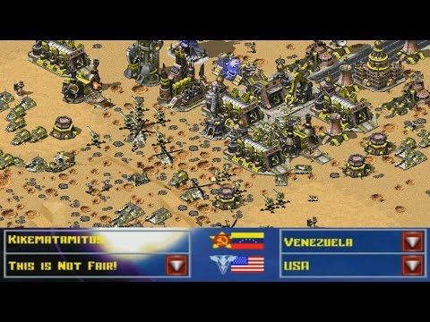 Venezuela vs USA This is NOT Fair! AI Red Alert 2 Reborn mod