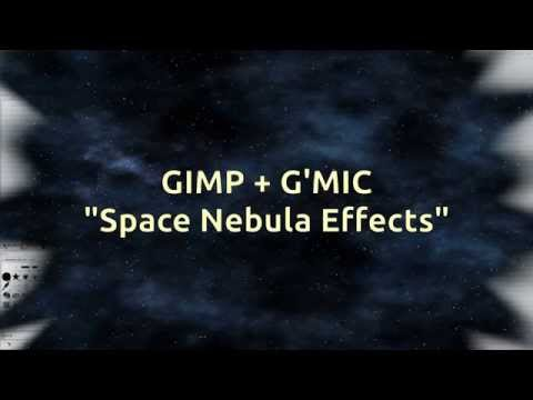 GIMP + G'MIC Space Tutorial