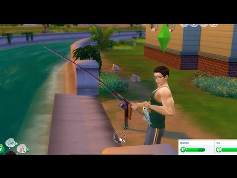 Sims 4 - Fishing Activity & Catching Fish!