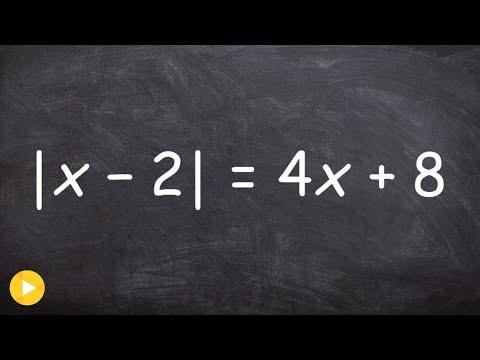 Solving an Absolute Value Equation and Checking for Extraneous Solutions