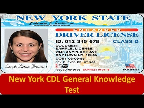 New York CDL General Knowledge Test