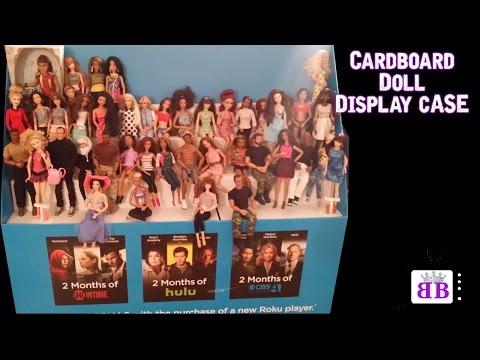 Recycled CARDBOARD doll display case/ Display shelf  Barbies & Disney Princesses, EAH, Monster High