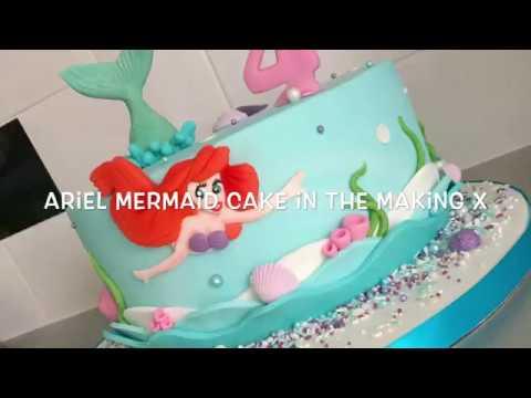 My Ariel Mermaid cake in the making x