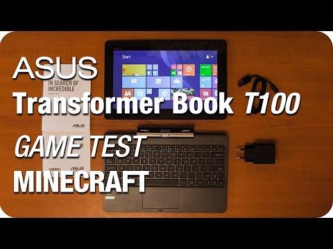 Minecraft Gameplay On Asus Transformer Book T100 (Intel Atom Z3740)