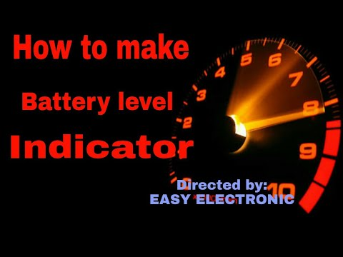 How to make a battery level indicator using resistor