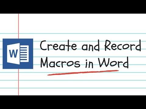 Recording Macros in Word