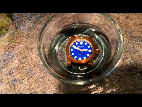 Adding patina to a brass watch in seconds
