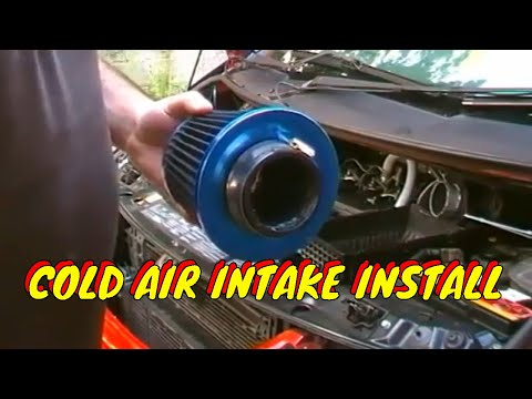 HOW TO INSTALL A COLD AIR INTAKE FILTER