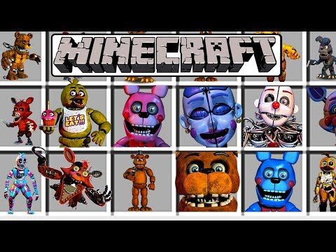 MINECRAFT NEW MODDED FNAF SHOWCASE/FIVE NIGHTS AT FREDDY'S MOD CHALLENGE! (FUNNY GAMEPLAY)