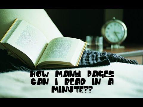 HOW MANY PAGES CAN I READ IN A MINUTE??