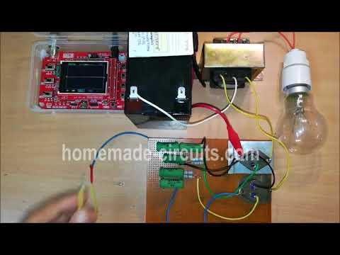 Simple Inverter Circuit using 2N3055 Transistors