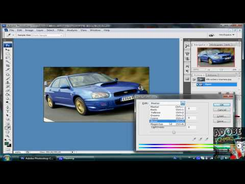 AdobeForDummies#16 : How to change your Car color in photoshop