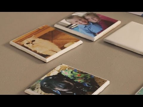 Use Tiles To Make Photo Coasters - Great Gift DIY