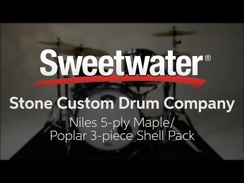 Stone Custom Drum Company Niles Maple/Poplar 3-piece Shell Pack Review