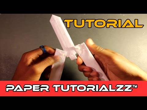 How To Make a Paper Butterfly Knife (Tutorial)