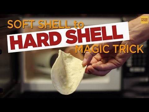 Soft Tortilla Into a Hard Shell in the Microwave | FOODBEAST LABS