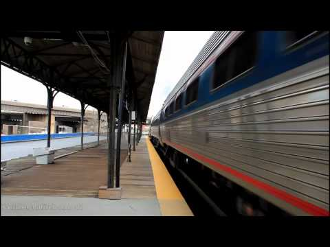 Amtrak: Springfield Shuttle and Vermonter in Hartford, CT (P42DC)