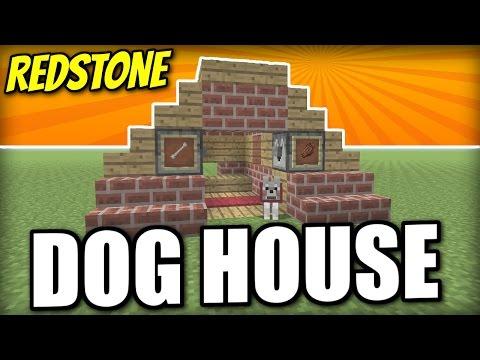 Minecraft PS4 -   REDSTONE DOG HOUSE - Tutorial ( PE / XBOX / PS3 / WII U )