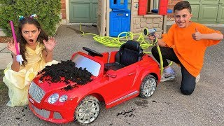 Download Heidi and Car Wash with Cleaning Toys Video