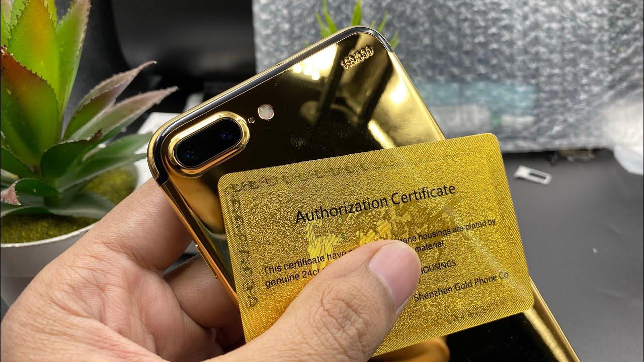 iPhone 7plus Restore to 24k Gold...|ASMR Videos|
