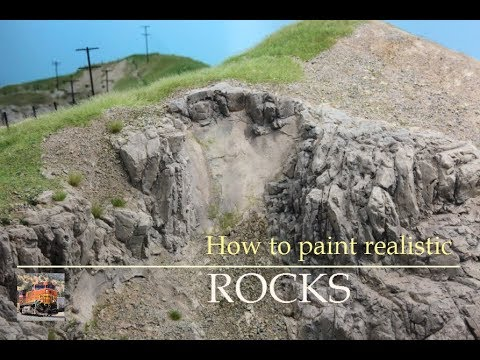 How to paint realistic Rocks for your HO Model Railroad Layout - Tutorial - Part 2