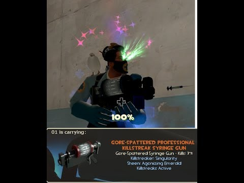 TF2 How To Craft Professional Killstreak Kit Singularity Agonizing Emerald Strange Syringe