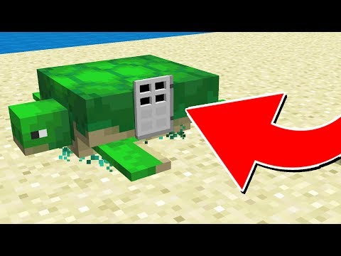 HOW TO LIVE INSIDE A TURTLE IN MINECRAFT (1.13 Snapshot)