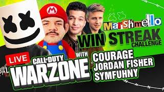 🔴 Marshmello's Call of Duty Warzone Win Streak w/ CourageJD + Jordan Fisher & Symfuhny!