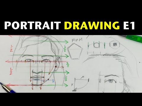 Beginner Portrait Drawing E1 | Proportions of the head