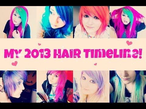 ♥ My 2013 Hair Timeline! ♥