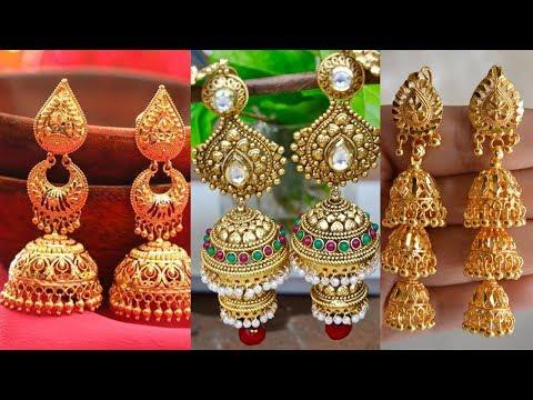 Latest Long Drop Gold Buttalu Designsjhumkas Collections - She Fashion