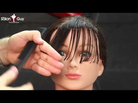 Side Bangs haircut or Sweeping Bangs-Fringe tutorial