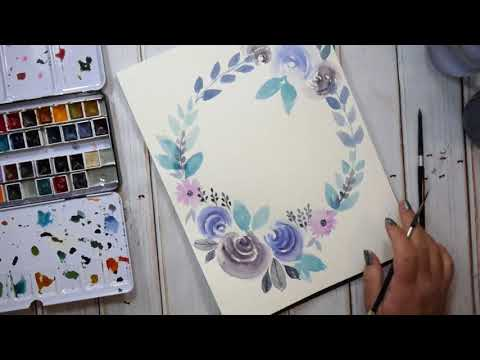 The 100 Day Project How to make a Watercolor Wreath