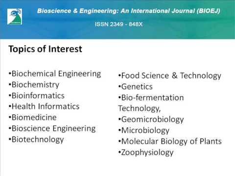 Bioscience & Engineering: An International Journal (BIOEJ)