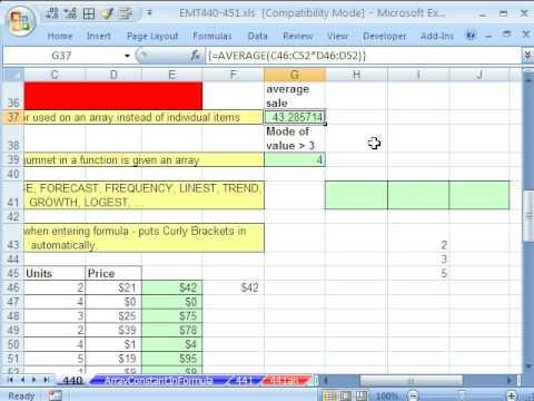 Excel Magic Trick 440: Array Formulas Advanced Tips