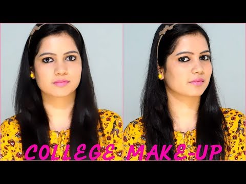 Indian college makeup tutorial for beginners ||TipsToTop By Shalini