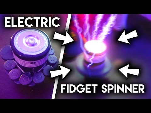 How To Make A ELECTRICAL FIDGET SPINNER! *VERY DANGEROUS*