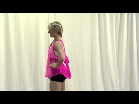 Natalie Power Mesh Tie Back Tank Top - N8661