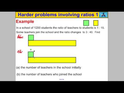 Harder problems involving ratios 1