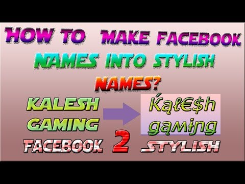 😎 How To Change Facebook Simple Names Into Stylish Names? | 8 Ball Pool 😎