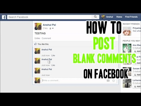 How to Post Blank Comments or Send Blank Messages on Facebook - Troll Your Friend