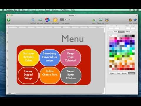 How to change design canvas background color using Publisher Star for Mac
